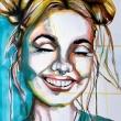 SMILE no. 1 · 51X40 cm · watercolour on paper