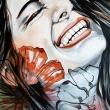 SMILE no. 2 · 51X40 cm · _watercolour on paper