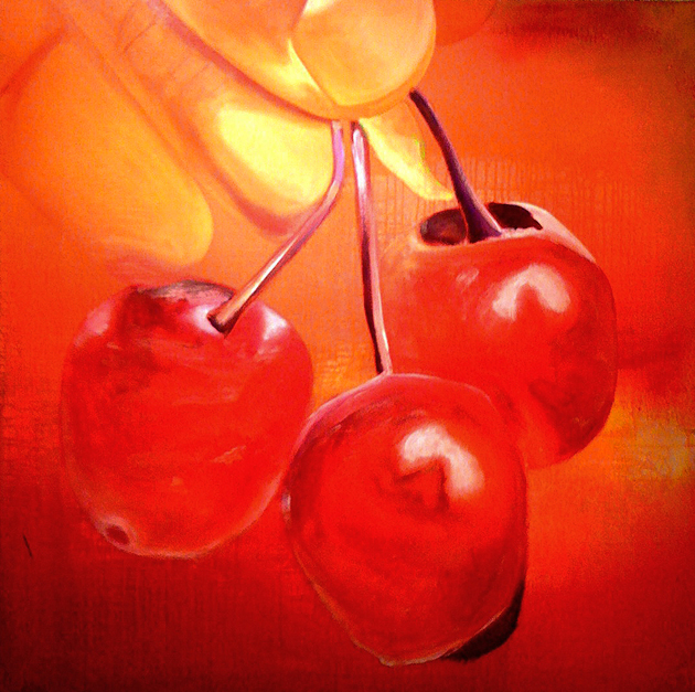 Kirsebær 110x110 cm · privat eje