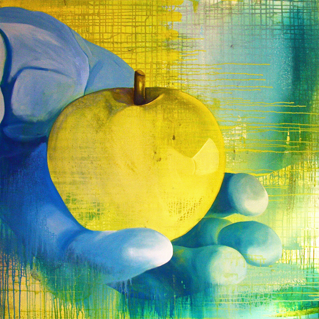 Æblet 110x110 cm · privat eje